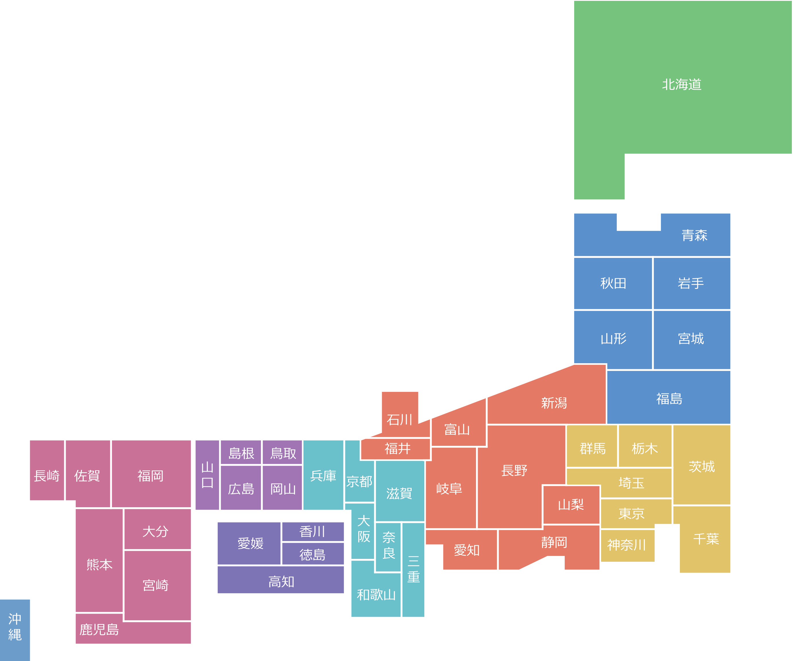 全国の地図