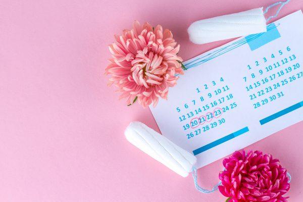生理周期のカレンダー