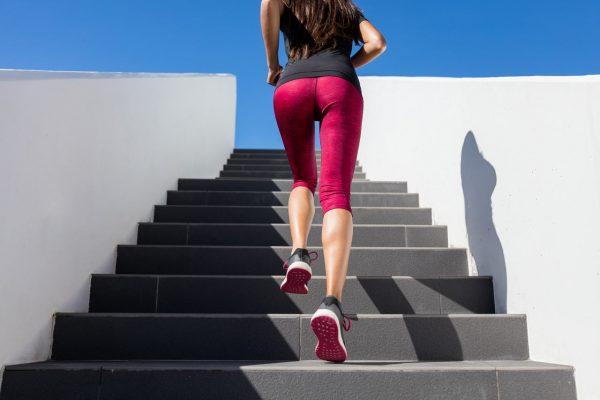 一つづづ階段を登ってトレーニング