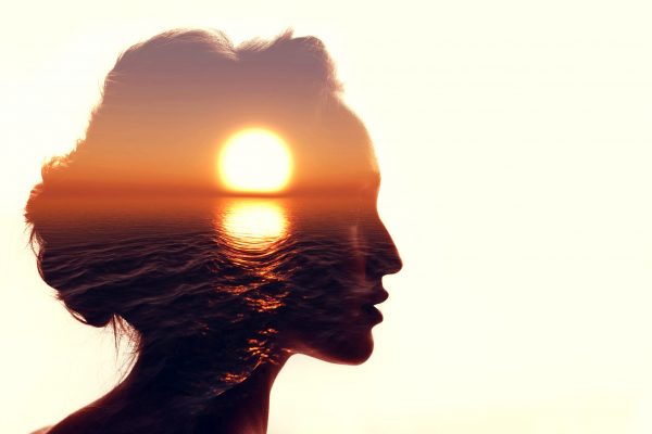 女性の頭部